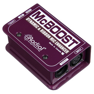 Radial Tonebone McBoost Microphone Signal Booster - Angled
