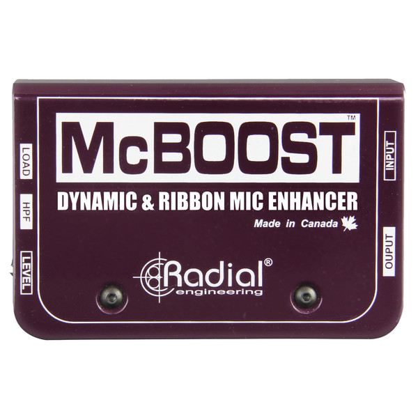 Radial Tonebone McBoost Microphone Signal Booster - Top