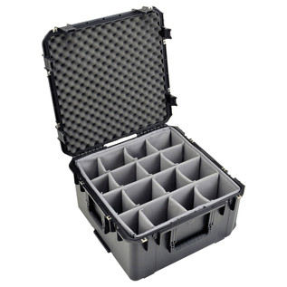 SKB iSeries 2222-12 Waterproof Case (With Dividers) - Angled Open