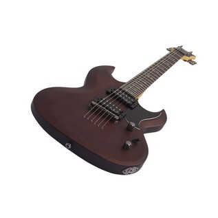 Schecter Omen S-II Electric Guitar, Walnut Stain
