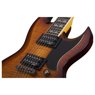 Schecter Omen Extreme S-II Electric Guitar, Vintage Sunburst