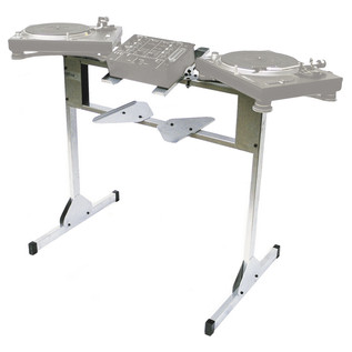 Sefour X25 Turntable Stand, Silver - Main View (Decks And Mixer Not Included)