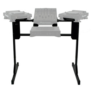 Sefour X25 CDJ Stand for CDJ 850, 900, 1000, Black - Front (Contents Not Included)