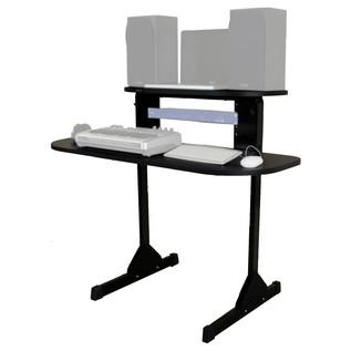 Sefour X15 Studio Pro Desk, Gloss Black - Angled