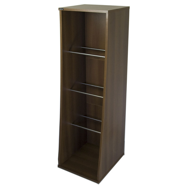 Sefour Vinyl Storage Unit for 500 Records, Tobacco Walnut - Front