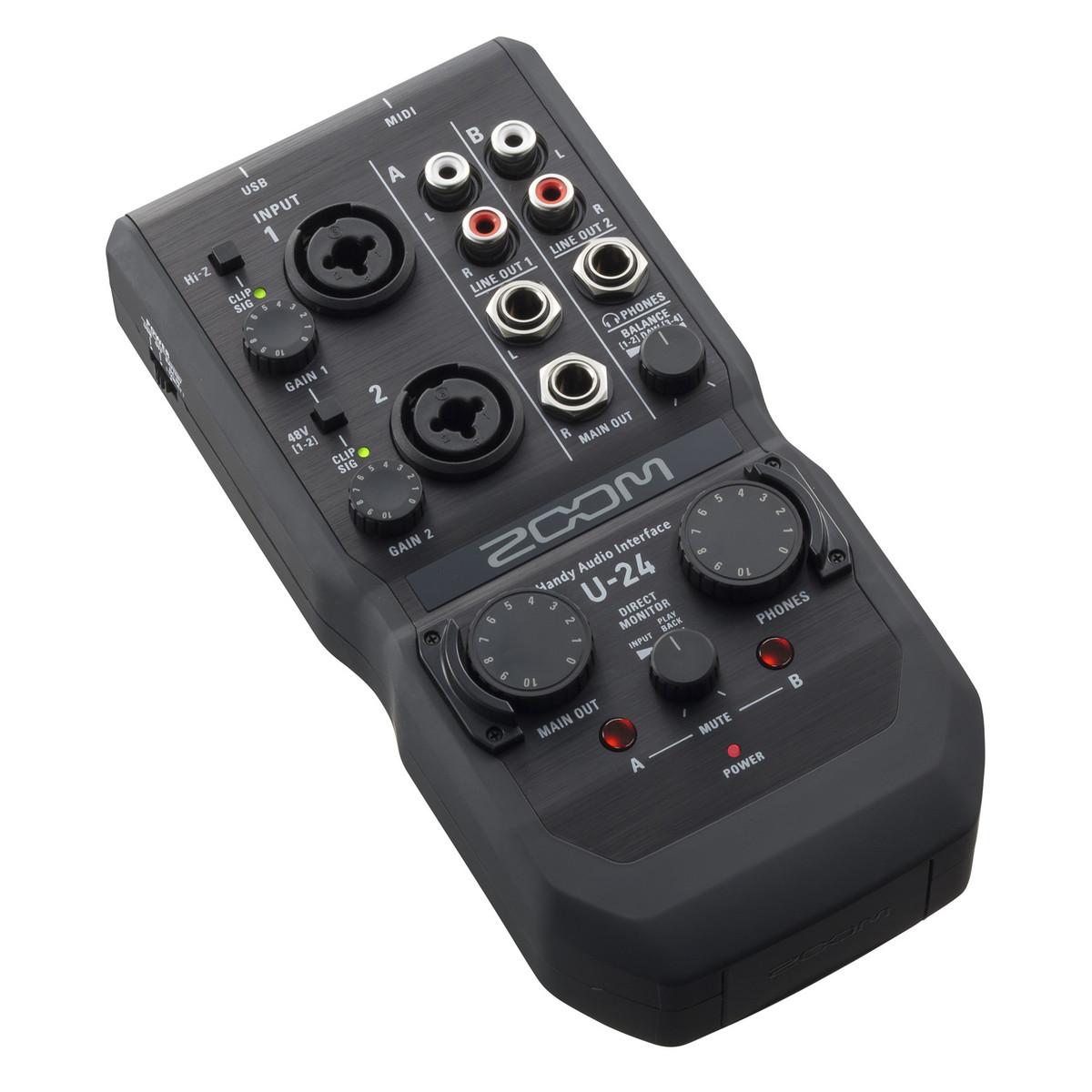 zoom u 24 usb audio interface at gear4music. Black Bedroom Furniture Sets. Home Design Ideas