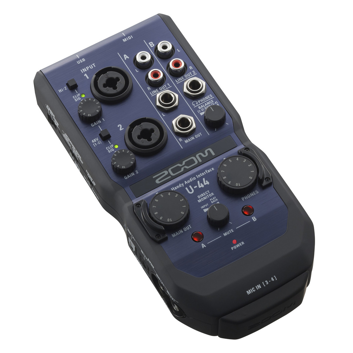 zoom u 44 usb audio interface at gear4music. Black Bedroom Furniture Sets. Home Design Ideas