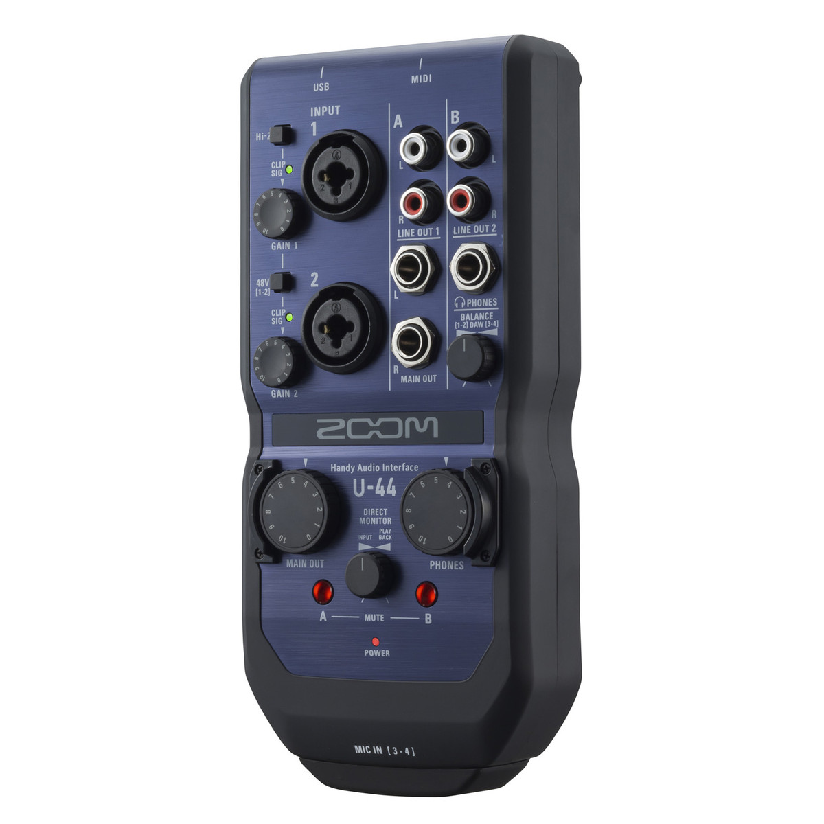 zoom u 44 usb audio interface at gear4music. Black Bedroom Furniture Sets. Home Design Ideas
