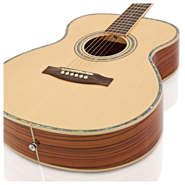 Deluxe Folk Acoustic Guitar by Gear4music, Zebrano