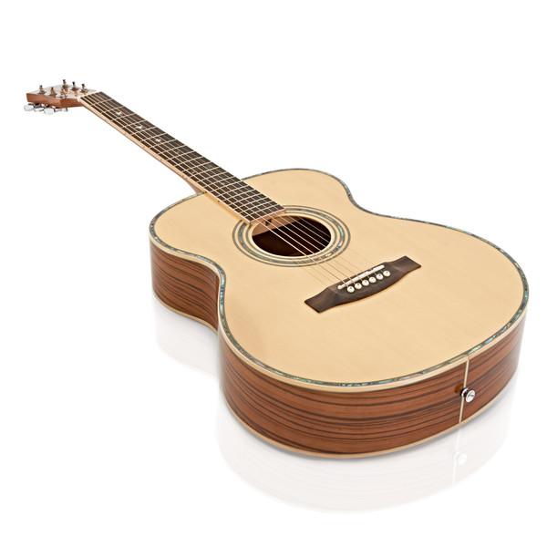 Deluxe Folk Acoustic Guitar by Gear4music, Zebrano