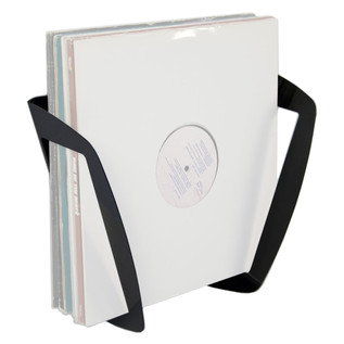 Sefour Set-Holder Vinyl Wall Mount, Black - Main View (Vinyl Records Not Included)