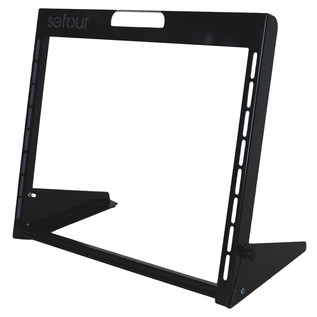 Sefour Carry Rack 8U, Black - Angled Empty