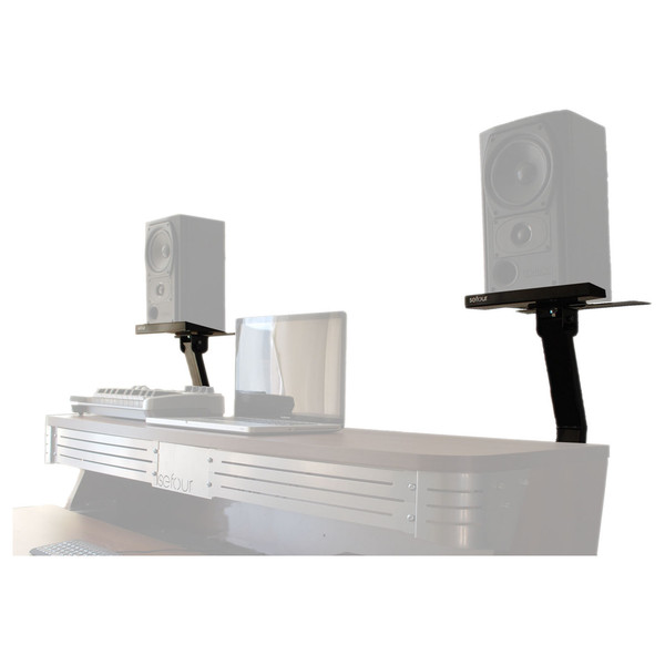 Sefour Speaker Brackets for X90/X60/X30/X10 (Pair), Black - Stands On Desk (Desk Not Included)