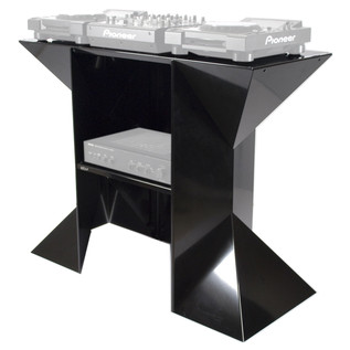 Sefour X90 Digital DJ Stand - Front Angled (Audio Equipment Not Included)