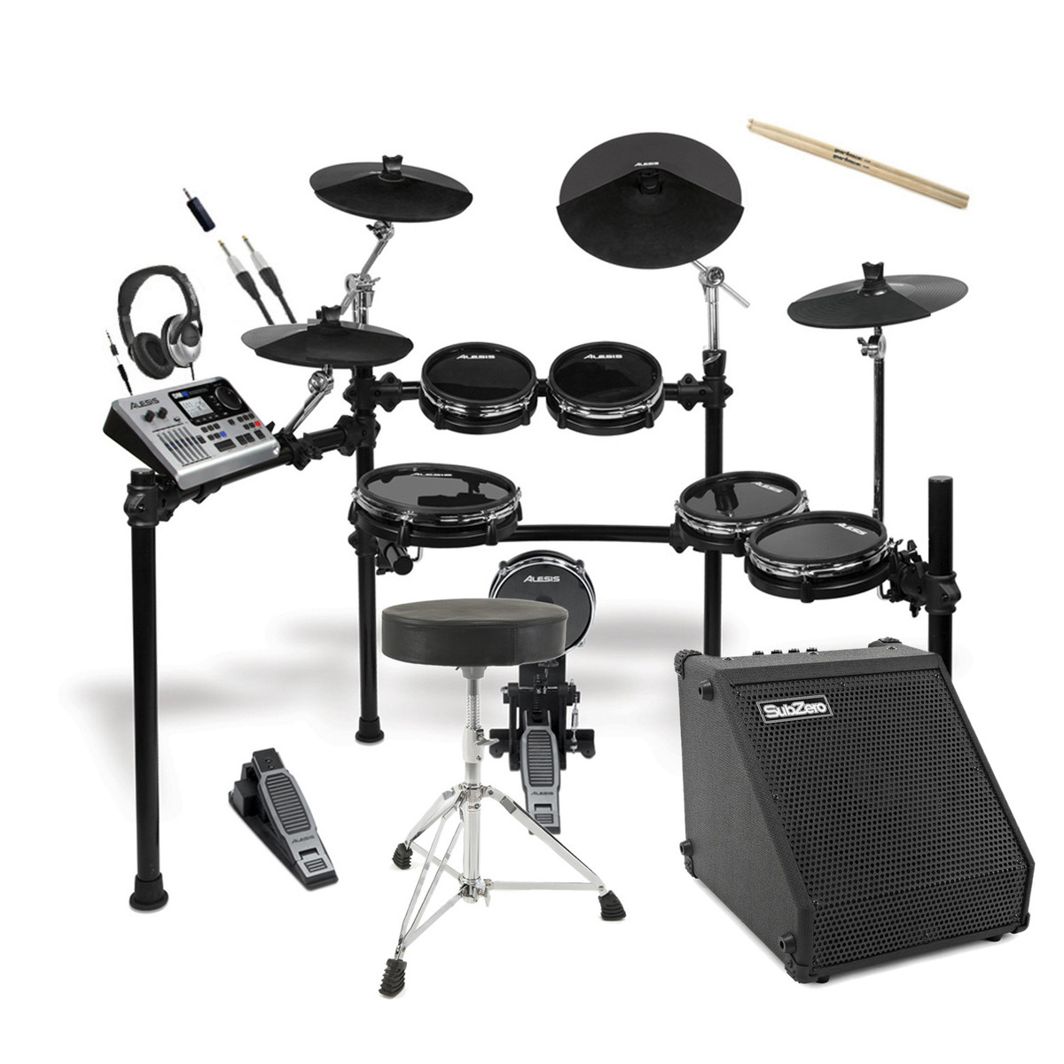 disc alesis dm10 x studio kit mesh digital drum kit bundle at gear4music