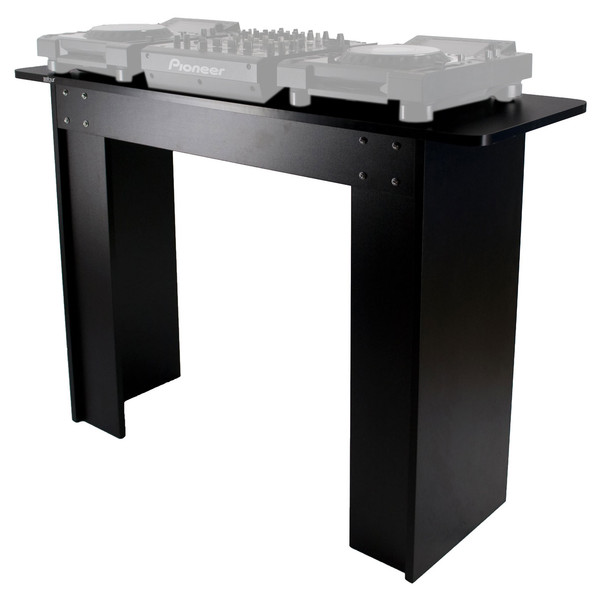 Sefour X5 CDJ Controller Stand, Black - Front (Audio Equipment Not Included)