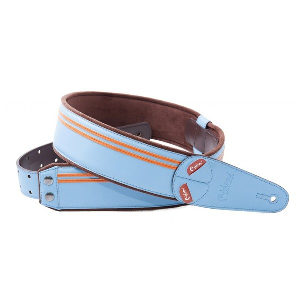 Right On Straps MOJO Race Guitar Strap, Sonic Blue