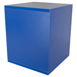 Sefour Vinyl Carry Box to Hold 115 Records, Bass Blue - Rear