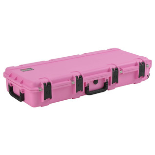 SKB iSeries 3614-6 Waterproof Case (With Layered Foam), Pink - Angled Closed 2