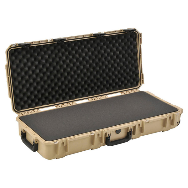 SKB iSeries 3614-6 Waterproof Case (With Layered Foam), Tan - Angled Open