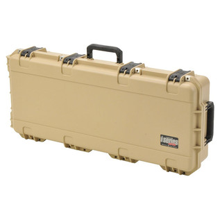 SKB iSeries 3614-6 Waterproof Case (With Layered Foam), Tan - Angled Closed 2