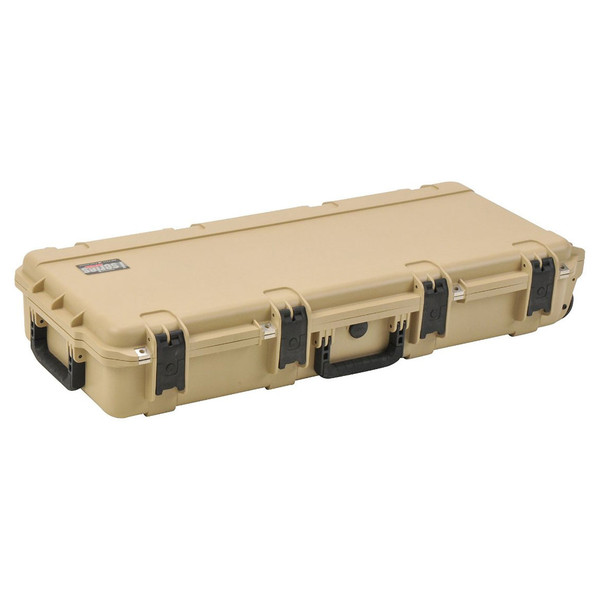 SKB iSeries 3614-6 Waterproof Utility Case (Empty), Tan - Angled Closed