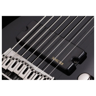 Schecter Omen-8 Left Handed Electric Guitar, Black