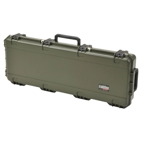 SKB iSeries 4214-5 Waterproof Case (Empty), Olive Drap - Angled Closed