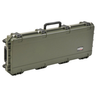 SKB iSeries 4214-5 Waterproof Case (Empty), Olive Drap - Angled Closed 2