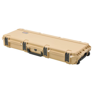 SKB iSeries 4214-5 Waterproof Case (Empty), Tan - Angled Closed