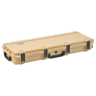 SKB iSeries 4214-5 Waterproof Case (Empty), Tan - Angled Closed 2
