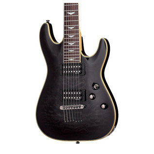 Schecter Omen Extreme-7 Electric Guitar, See-Thru Black
