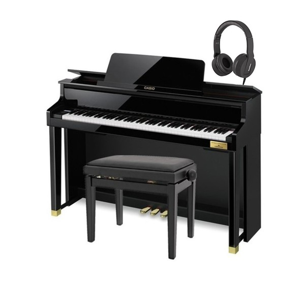 Casio GP500 Grand Hybrid Digital Piano Polished Ebony Pack