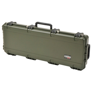 SKB iSeries 4214-5 Waterproof Case (With Layered Foam), Olive Drap - Angled Closed