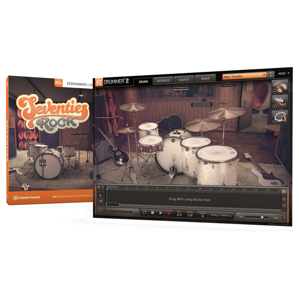 Toontrack EZX - Seventies Rock - Box And Screenshot