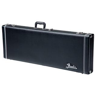 Fender American Standard Jazz Bass, RW, Black - Case Front