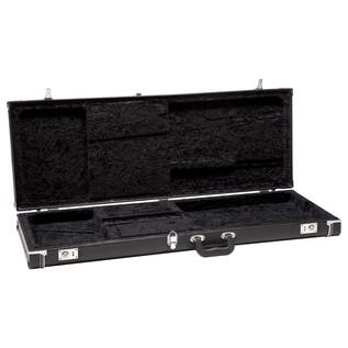 Fender American Standard Jazz Bass, RW, Black - Case Open