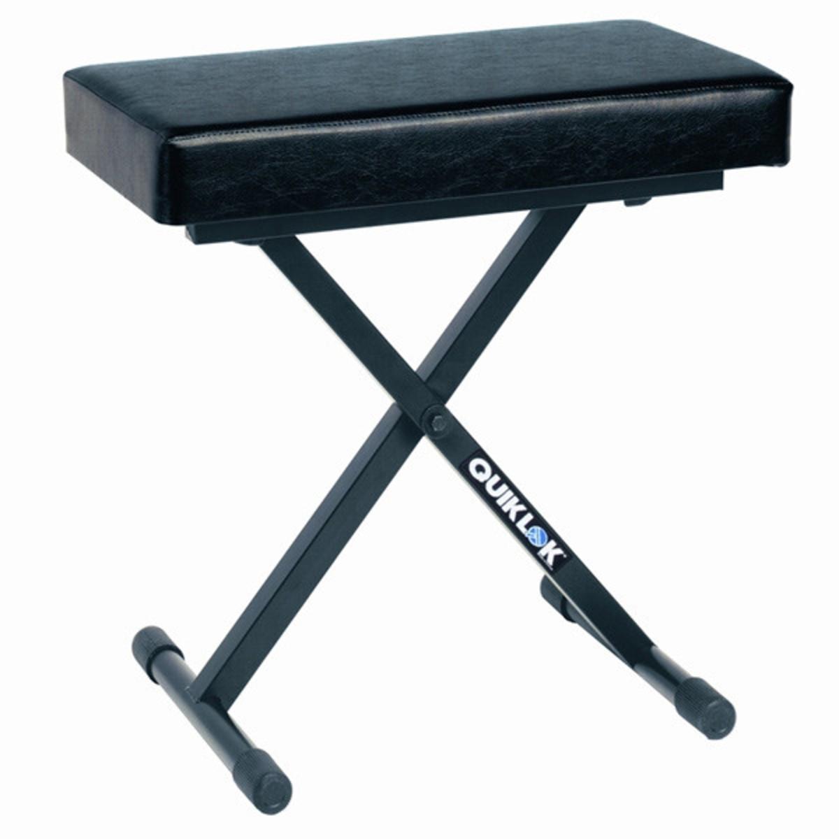 Quiklok Bx718 Deluxe Adjustable Piano Bench Ex Demo At