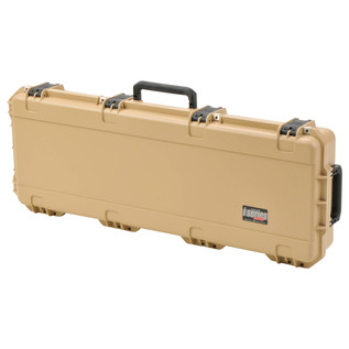 SKB iSeries 4214-5 Waterproof Case (With Layered Foam), Tan - Angled