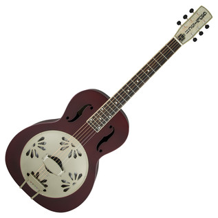 Gretsch G9202 Honey Dipper Round-Neck Biscuit Cone Resonator Guitar, Oxblood