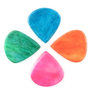 Timber Tones Jazzy Tones Guitar Picks, Players Pack of 4