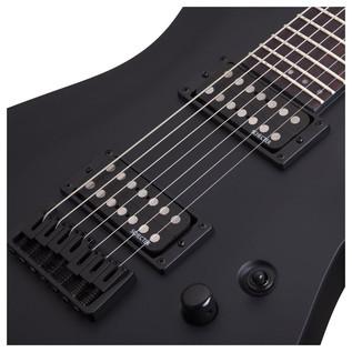 Schecter Stealth C-7 Electric Guitar, Satin Black