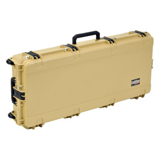 SKB iSeries 4217-7 Waterproof Case (Empty), Tan - Angled 2
