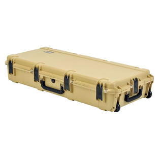 SKB iSeries 4217-7 Waterproof Case (Empty), Tan - Angled Flat