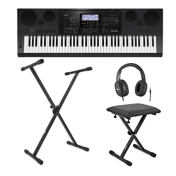 Casio WK-7600 Portable Keyboard Package