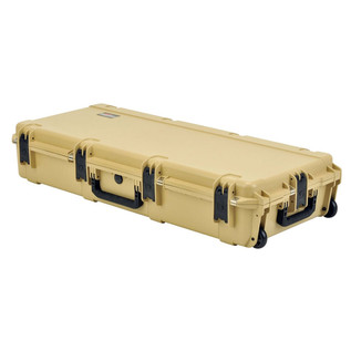 SKB iSeries 4217-7 Waterproof Case (With Layered Foam), Tan - Angled Flat