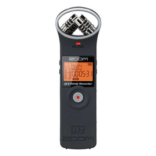 Zoom H1 Digital Field Recorder, Matte Black