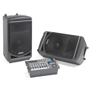 Samson XP1000B PA with Bluetooth - Main With Speaker As Floor Monitor