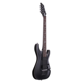 Schecter Damien Platinum-7 Electric Guitar, Satin Black