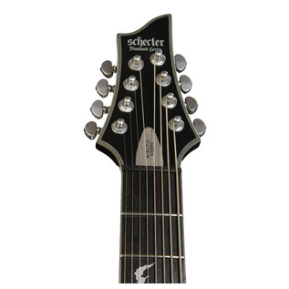 Schecter Damien Platinum-8 Left Handed Electric Guitar, Satin Black